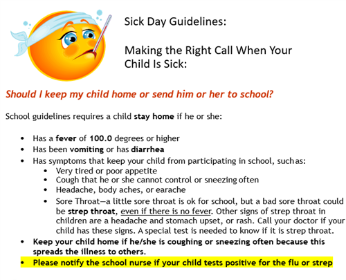 Sick Day Guidelines